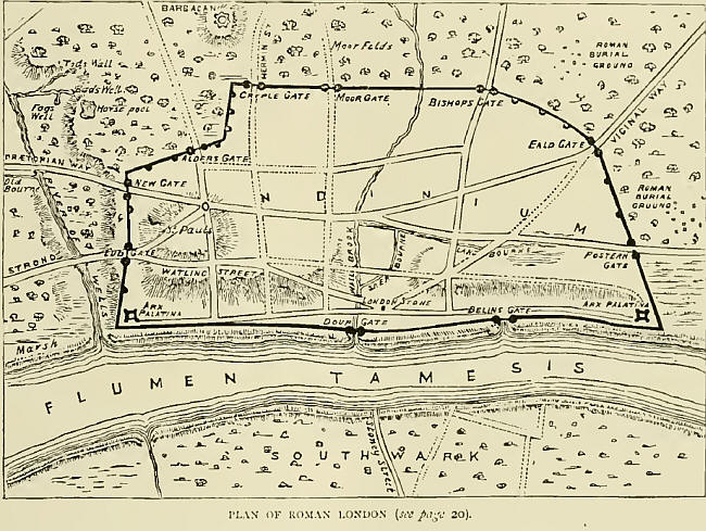 Plan of Roman London Wall