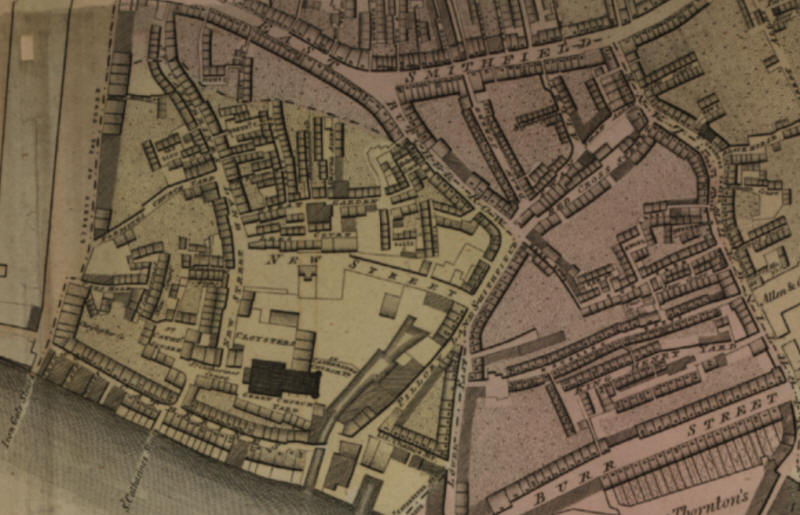 St Catherines street in the Horwood map of 1799 - see this at Layers of London