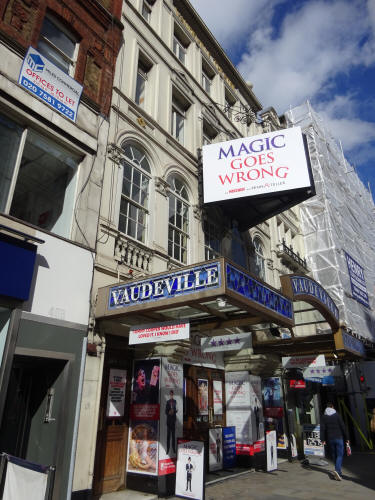 Vaudeville Theatre, 404 Strand in March 2020